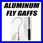 ALUMINUM HANDLE FLY GAFF w RELEASE HOOK