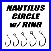 NAUTILUS CIRCLE HOOK WITH SOLID RING - BLACK WIRE