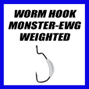 WORM HOOK - EWG MONSTER - WEIGHTED