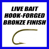 LIVE BAIT HOOK-BRONZE FORGED-50 PACK(9174)