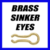 BRASS SINKER EYES - 1LB BAG