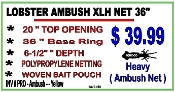 LOBSTER AMBUSH XLH NET 36""