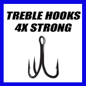 TREBLE HOOKS - 4X STRONG